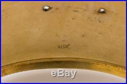 18K Art Deco Bangle Cuff Antique