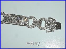 18 Carat WHITE Gold ART DECO STYLE BRACELET 8.00 CARATS OF DIAMONDS AMAZING