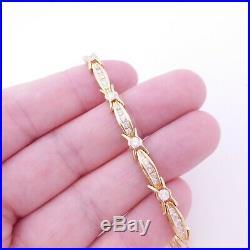 18ct gold 2.30ct diamond bracelet, art deco design heavy 14.5 gams