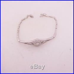 18ct gold Exceptional 1ct diamond bracelet, art deco design