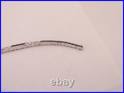 18ct gold natural sapphire diamond bracelet boxed, art deco design 15.9 grams