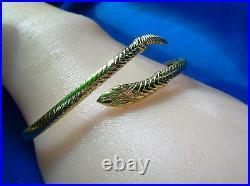 1920s 1930s Antique Art Deco Serpent Bracelet Solid Gold Vintage Victorian snake