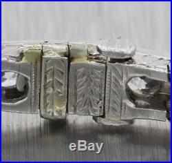 1920s Antique Art Deco Platinum 7.00ctw Diamond 5mm Wide Tennis Bracelet S8