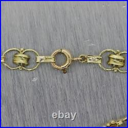 1930's Antique Art Deco 14k Yellow Gold 1.50ctw Blue Zircon Bracelet