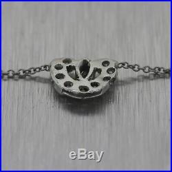 1930's Antique Art Deco Platinum 1ctw Diamond Link 19.5 Chain Necklace