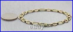 1930s Antique Art Deco Estate Solid 14k Solid Yellow Gold Chain Bracelet J8