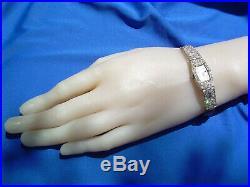 20s Art Deco Platinum Diamond Ladies Watch Designer Antique Vintage wedding gift