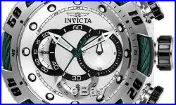 27059 INVICTA Men's 50mm Speedway Stainless VD54 Quartz Silver Dial Green Cable
