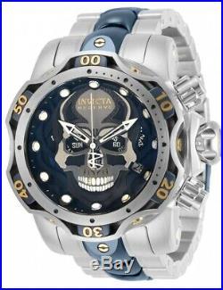 30351 Invicta Reserve Qrtz Chrono Gen III Skull 52mm Case Mens SS Bracelet Watch