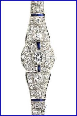 $50,000 Antique 1920s Art Deco Platinum 6ctw Diamond Tennis Bracelet