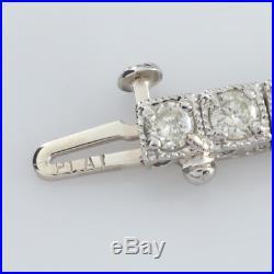 5.00 Carat Diamond Platinum Art Deco Bracelet 7 inches