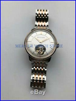 AD20 BRIGADA Mens TianJin ST8000 Tourbillon Movement Mechanical Skelenton Watch