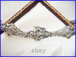 ANTIQUE ART DECO 935 FINE Silver Marcasite Vintage BRACELET Superb Condition