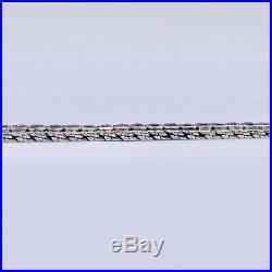 AN ART DECO FRENCH CUT SAPPHIRE LINE TENNIS BRACELET IN PLATINUM 15ct WEIGHT