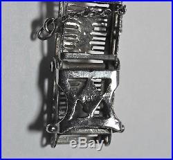 ART DECO 10K WHITE GOLD FILIGREE DIAMOND BRACELET 11.2Gr