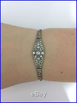 A Stunning Art Deco 3ct Diamond Bracelet Circa 1920s-1930s