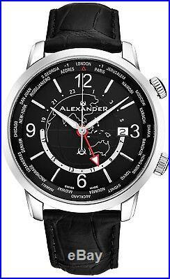 Alexander Journeyman Men's World-timer Swiss Made Watch Sapphire Crystal 40 MM