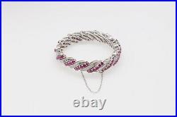 Antique 1930s ART DECO $30,000 20ct Burma Natural Ruby Diamond Platinum Bracelet