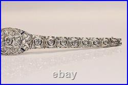 Antique Art Deco 14k Gold Natural Diamond And Rose Cut Diamond Sapphire Bracelet