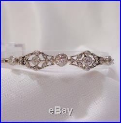 Antique Art Deco 1.75ct Diamond Bracelet in 14ct Gold 7 1/2 (19.5cm)