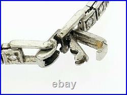 Antique Art Deco All Solid Platinum 1.75ctw Diamond Ladies Bracelet Wrist Watch