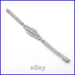 Antique Art Deco Diamond & Platinum Milgrain Decorated Bracelet