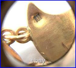 Antique Art Deco Egyptian Revival 14ct Rose Gold Alexandrite Lotus Bracelet