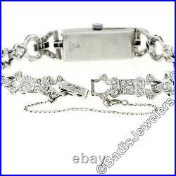 Antique Art Deco Platinum 2.50ctw Diamond Bracelet Ladies' 17j Swiss Wrist Watch