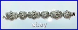Antique Art Deco Platinum 4.65 Carat Diamond Bracelet