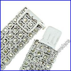Antique Art Deco Platinum 64.80ctw Old European Diamond 4 Row Tennis Bracelet