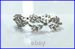 Antique Art Deco Platinum Gold Diamond Bracelet