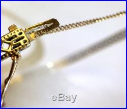 Antique Art Deco Sapphire and 14K Gold Bangle Bracelet