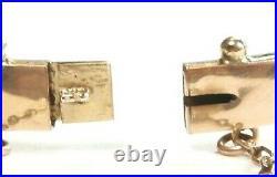 Antique Art Deco Vintage Bracelet Persian Turquoise Pearl 14K Rose Gold ID 2.27