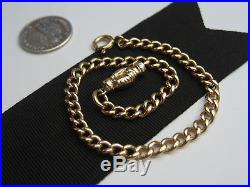 Antique Art Deco era 14K Yellow Gold Chain Link Bracelet & Shaking Hands Clasp