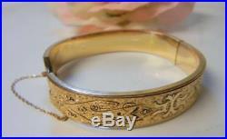 Antique Art Nouveau Art Deco Dunn Bros 10k Gold Filled Enamel Bracelet