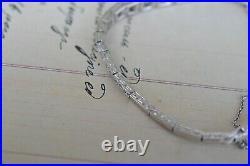 Antique French Art Deco White 18k Gold and 2.20 CT Diamond Bracelet 13.5 Gr