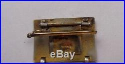 Antique Guilloche Signed Speidel Art Deco Geometric Enamel Bracelet