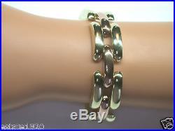Antique Retro Bracelet 14K Rose Green Gold 7 1/8 Vintage Estate Art Deco RARE