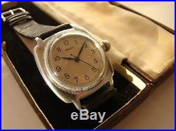 Antique Rolex Oyster Cushion Gents Watch Ref 2081 Original Condition 1930/box
