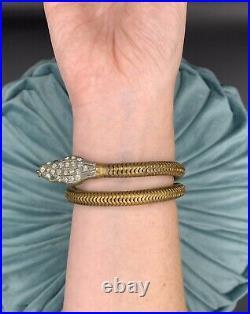 Antique Snake Paste Bracelet