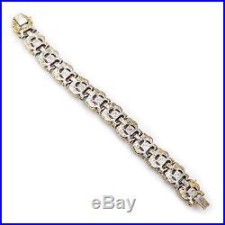 Antique Vintage Art Deco Mid Century Costume JOMAZ Lapis Lazuli Paste Bracelet