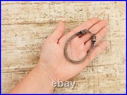 Antique Vintage Art Deco Sterling 925 Silver Byzantine Bali HUGE HEAVY Bracelet