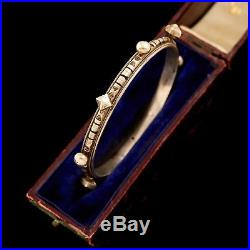 Antique Vintage Art Deco Sterling Silver Bedouin Yemeni Tribal Bangle Bracelet