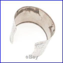 Antique Vintage Art Deco Sterling Silver HUGE Jugendstil Inspired Cuff Bracelet