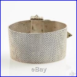Antique Vintage Art Deco Sterling Silver Tiffany Persian Turquoise Bracelet