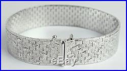 Armband Art Deco Modernist 835 Silber rhodiniert Vintage 30er silver bracelet