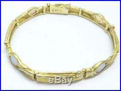 Armband bracelet 585 GOLD Opal opale Brillant Diamant diamond Art Deco oro 14kt