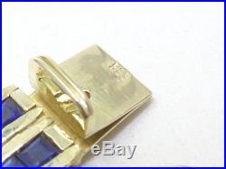 Armband bracelet 585 GOLD Saphir Brillant Diamant diamond Art Deco oro 14kt