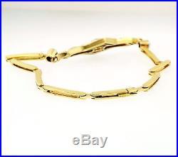 Art Deco 18Carat Yellow Gold & Platinum Diamond (0.40ct) Bracelet (6.5 Inch)