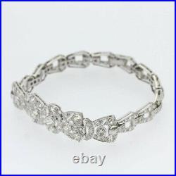 Art Deco 3.60 Carat Diamond Bracelet Platinum